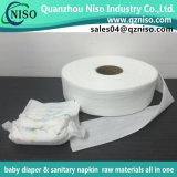 Windel-Windel-Rohstoffe, elastischer nichtgewebter Bund für Windel-Herstellung