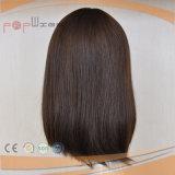 Parrucca piena delle donne di lunghezza di Wefted della parte anteriore del merletto dei capelli della fibra di Syntheitic breve