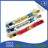 Kundenspezifisches Gewebe gesponnene PolyesterWristbands für Festival