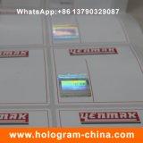 Изготовленный на заказ горячий проштемпелеванный бумажный голографический ярлык