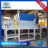 Le HDPE d'usine a employé le défibreur d'arbre de double de film plastique de perte de sachet en plastique