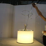 Form-weißes rundes Metallpolygonale Esszimmer-hängende Lampe