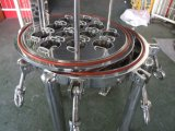 Custodia di filtro industriale della cartuccia del filtro da acqua dell'acciaio inossidabile multi