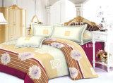 優雅な寝具の一定の対のサイズ4PC Microfiberの極度の柔らかい生命
