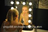 Espelho de vaidade de acrílico personalizado com luzes