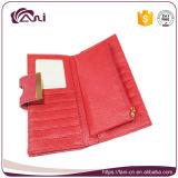 Rode Kleur Dame Clutch Purse, de Portefeuille van de Koppeling van de Vrouwen van Pu, de Zak van het Geld van de Koppeling met Goedkope Prijs