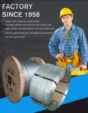 중국 공장에서 직류 전기를 통한 강철 케이블 철강선 밧줄이 1X7에 의하여 철강선 직류 전기를 통했다