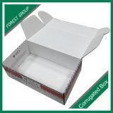 빨간색 백색 안쪽 인쇄 포장 상자