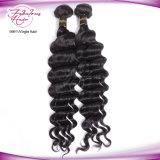 Do cabelo indiano 100% de Remy do Virgin trama crua Curly frouxa do cabelo humano