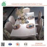 Do estilo europeu de madeira da tabela do projeto da fábrica cadeira de jantar de couro