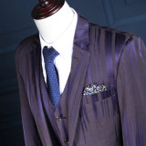 La lana di punta una del risvolto abbottona il vestito di affari