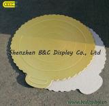 SGS (B&C-K038)を持つサケのためのハンドルが付いているTrangleの形の金ホイルのケーキのドラム