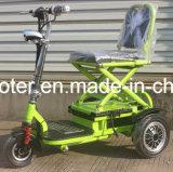 Scooter électrique pliable de mobilité de trois roues de l'adulte 350W avec du ce