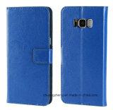 Caja móvil de cuero del teléfono celular del tirón para Samsung