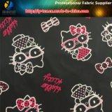 La stampa del gattino, poliestere ha stampato il tessuto del taffettà per l'indumento/rivestimento dei bambini