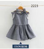 Il vestito di estate del vestito del capretto collega il cotone con un manicotto 100% del vestito del fiore del vestito di modo del vestito