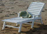 Qualidade superior de 10 anos Uso UV Protected Polywood Frame Modern Hotel Outdoor Garden Chaise Lounge