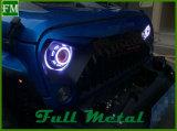 Фары HID&LED с глазом демона дьявола для защитника Land Rover