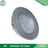 Luz de teto do gabinete do diodo emissor de luz de 3 watts