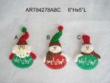 Санта и украшение Ornament-3assorted вала снеговика