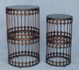 Conjunto al aire libre de los muebles de la mesa de centro del metal del &Round del acero inoxidable