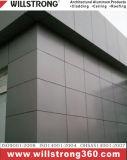 Painel composto do zinco para a decoração da fachada