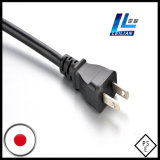 2.0mm2 Pino 2-Flat do cabo de alimentação do Japão 15A Certificado PSE