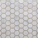 La venta del nuevo estilo de Carrara hexágono mosaico de mármol