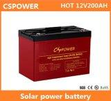Batterie profonde de gel de cycle pour l'énergie solaire 12V200ah