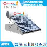 Riscaldatori di acqua solari d'acciaio galvanizzati dell'acciaio inossidabile di pressione bassa