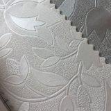 Couro do PVC do projeto da flor da prova da água para a decoração da parede