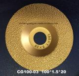 """roda de moedura de pedra artificial de mármore do diamante de 4 """" 100mm"""