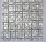 Shell de agua dulce y mármol y mosaico de vidrio