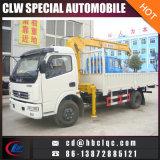 Bom guindaste telescópico de Dongfeng 4X2 5ton das vendas com caminhão