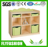 Горячая продажа красочных деревянных полочные детский мебель Sf-106c
