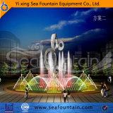 Fontaine extérieure de syndicat de prix ferme de musique de modèle professionnel de créateur avec la sculpture
