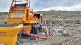 Capacidad de la tolva de 800 L Bomba de hormigón de remolque con mezclador
