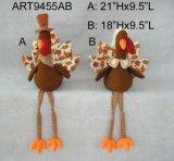 La cosecha feliz cuelga el muchacho y la muchacha de Turquía de las piernas