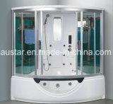 sauna de vapeur de secteur de 1560mm avec le jacuzzi et la douche pour 2 personnes (AT-G8201)
