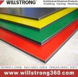 Zeichen-Vorstand materielles Willstrong AluminiumComposit Material