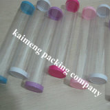 Impressão de seda Clear 0.5mm Pet Plastic Cylinder Food Packaging