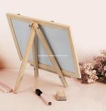 カスタムロゴの小さい机の木の黒板の小型黒板