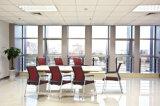 Silla de madera de la tela del restaurante moderno del café/silla de la reunión de la recepción/del visitante de la conferencia