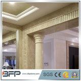 Pietra di marmo che intaglia colonna romana bianca per la decorazione domestica