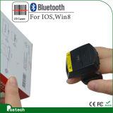 2017 Nuevo Dedo Bt escáner 1d portátil Bluetooth Ring-Style Anillo escáner láser portátil Mini Lector de códigos de barras UL-Fs01