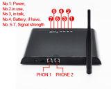 Входной OEM 1 Port FXS GSM, GSM исправил беспроволочный стержень, поддержка удостоверения личности звонящего по телефону, резервная поддержка батареи, IMEI переменчивое, 850/900/1800/1900MHz