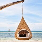 Bosque al aire libre Jardín Playa muebles de salón Silla colgante cesta Tumbona Tumbona cama diván
