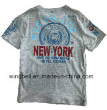 Maglietta alla moda del cotone per il ragazzo con il tessuto del Melange