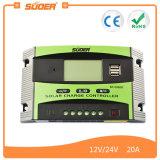 Regolatore solare solare del regolatore 12V 24V 20A della carica del regolatore intelligente di Suoer (ST-C1220)
