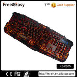 Crackled USB verdrahtete LED beleuchtete Tastatur